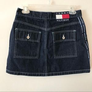 Retro Tommy Hilfiger Denim Mini Skirt Spell Out